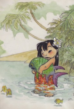 Lilo concept art ©Walt Disney Animation Studios and Chris Sanders